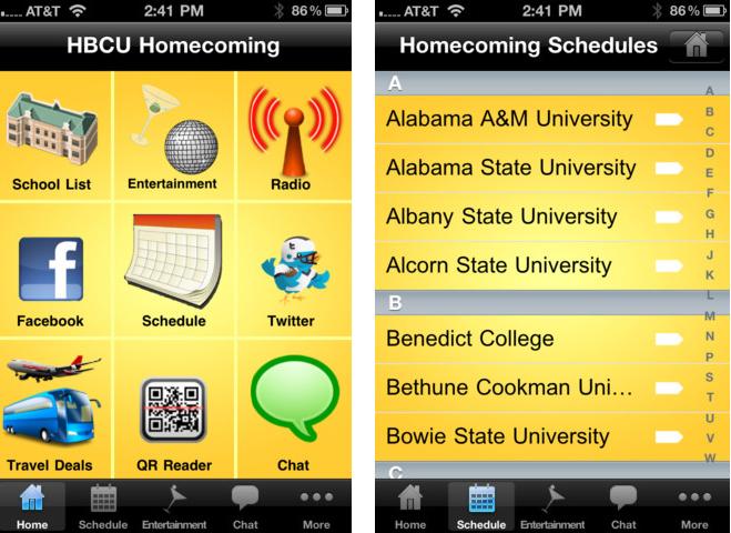 HBCU Homecoming iPhone Screenshots