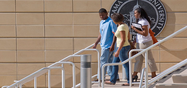 Student on the campus of Alabama State University