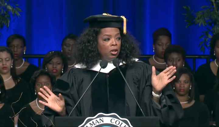 Oprah Winfrey shared nuggets of wisdom with Spelman graduates