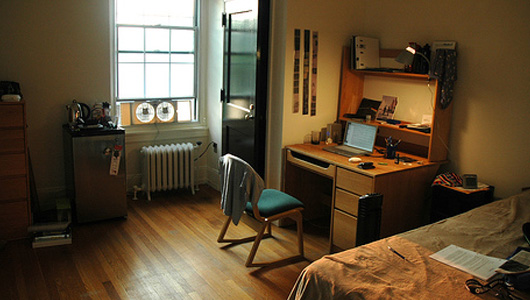 Dorm room study zone