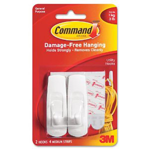 Removable Adhesive Wall Hooks for Dorm Rooms