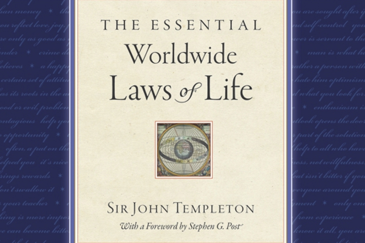 laws of life essay scholarship In honor of philanthropist john templeton's 1997 book discovering the laws of life his publishing company is releasing a revised commemorative edition.