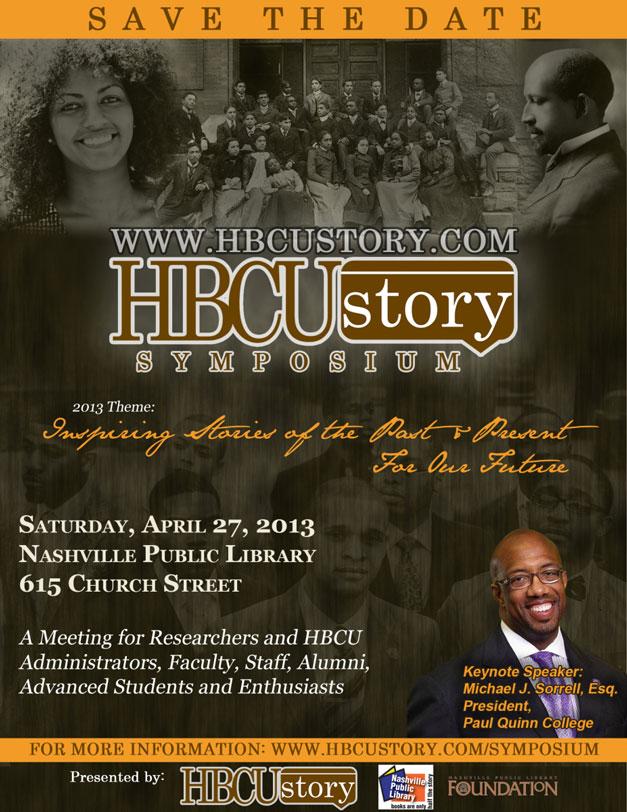 2013 HBCUStory Symposium Nashville, TN