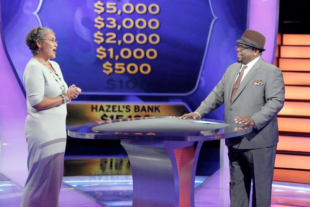 """Dr. Hazel Spears, Cheyney University psychology professor, competes on ABC's """"Who Wants To Be A Millionaire"""" show, hosted by Cedric the Entertainer"""