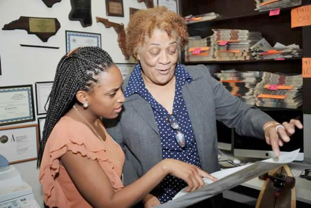 Wanda Peters, the Gramblinite newspaper's advisor, is proud of the achievements of the students and the newspaper.