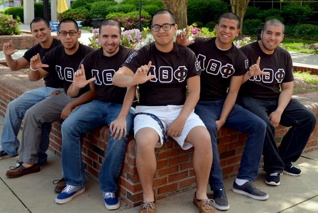 Johnson C. Smith University students and founders of the Lambda Theta Phi Latin Fraternity, Inc.