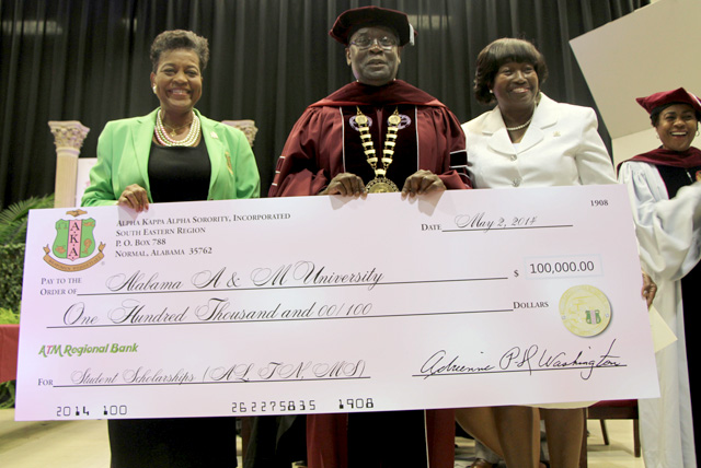 Alpha Kappa Alpha Sorority Makes Historic Donation to AAMU