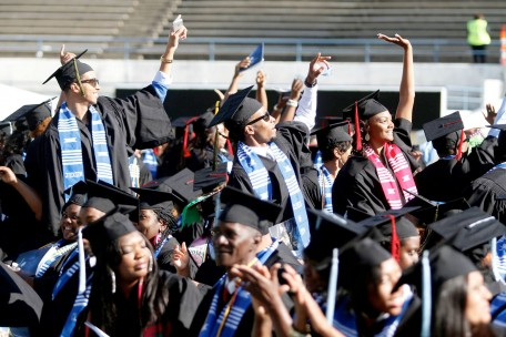 Jackson State University's graduating class of 2014 Celebrate during commencement ceremony May 3, 2014.