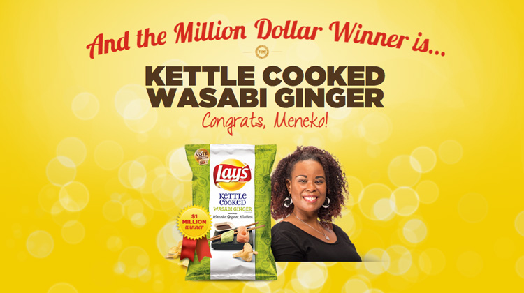 """Congratulations to Meneko Spigner McBeth. She will take home a $1 million grand prize for creating Lay's Kettle Cooked Wasabi Ginger flavored chips in this year's Lay's """"Do Us A Flavor"""" contest."""
