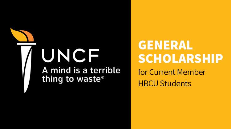 UNCF General Scholarship for Current Member HBCU Students