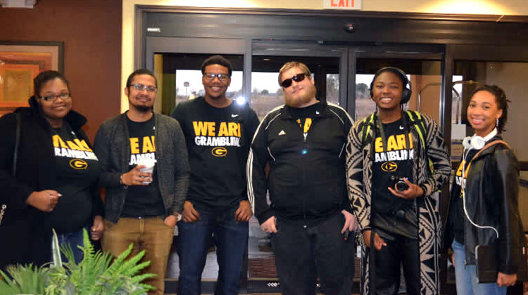 Members of the Grambling State University Academic Quiz Bowl Team defeated Prairie View A&M University to win the regional Honda Campus All-Star Challenge on January 31.