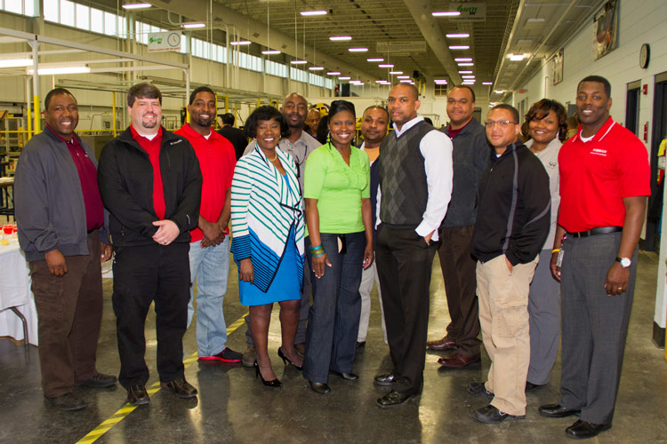 Nissan has a contingent of current employees who graduated from Alcorn State University. Nissan donated two FANUC robots to Alcorn's Department of Advanced Technologies on March 21, 2013.