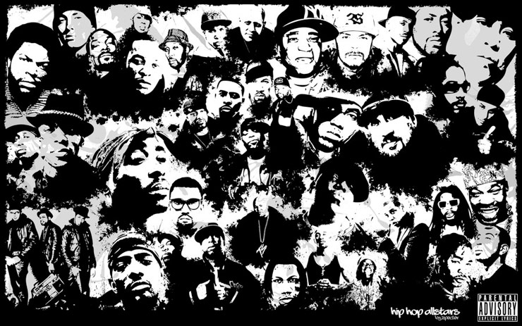 Hip-Hop All-stars Collage