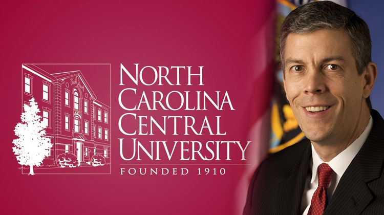 Secretary of Education Arne Duncan will deliver the keynote address to North Carolina Central University graduates during the 125th Baccalaureate Ceremony.