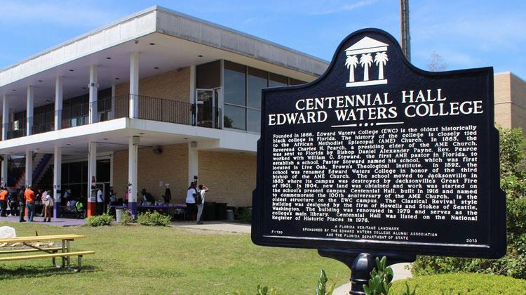 Florida Heritage Landmark on the campus of Edward Waters College in Jacksonville, Florida.
