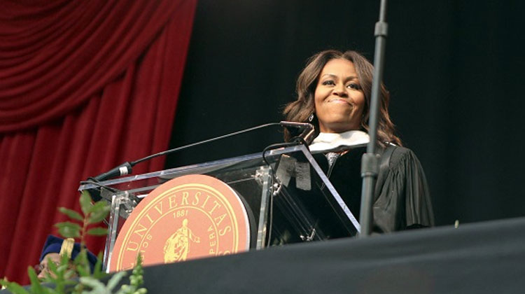 First Lady Michelle Obama speaks at Tuskegee University Graduation