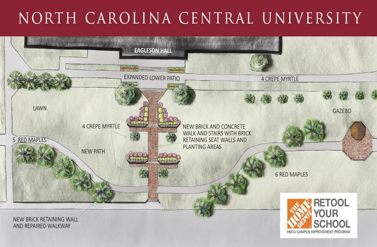 NCCU's Home Depot Campus improvememt Landscape Plan