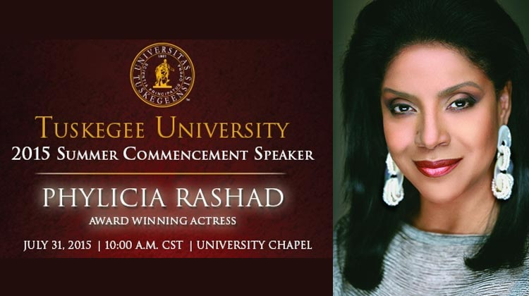 Phylicia Rashad to address Tuskegee University summer commencement