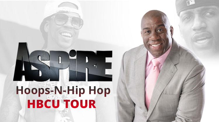 Magic Johnson's ASPiRE, Tracy McGrady, 2Chainz Launch New HBCU Tour