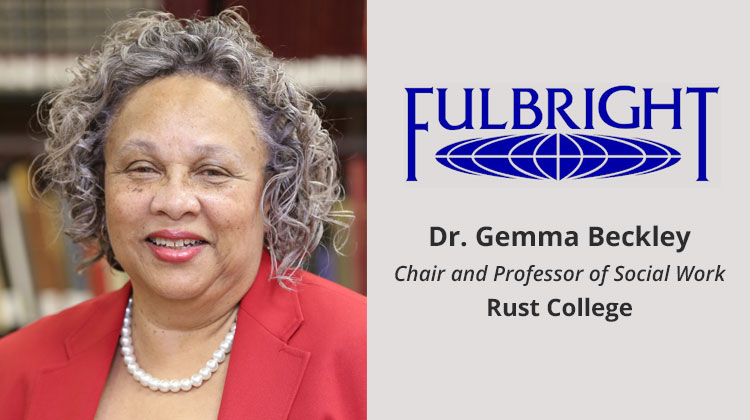 Dr. Gemma Beckley becomes first Fulbright awardee in Rust College history