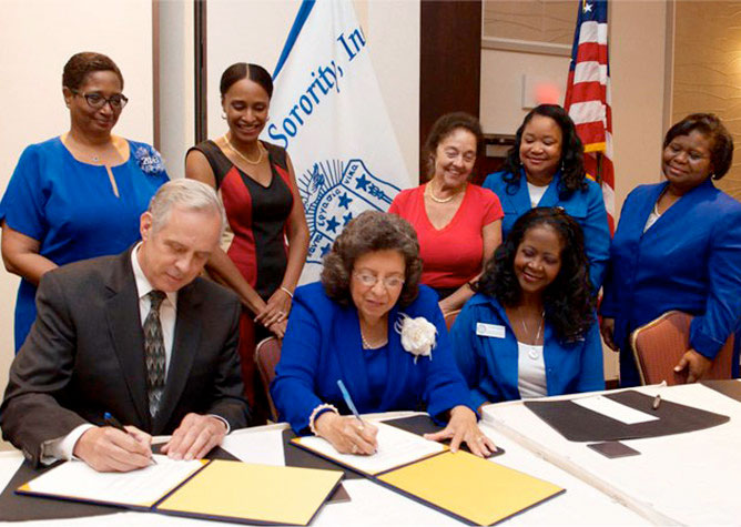 Zeta Phi Beta Signs Major Agreement to Promote STEM and Outdoor Recreation
