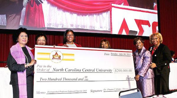 Delta Sigma Theta Awards NCCU $200k for Scientific Research