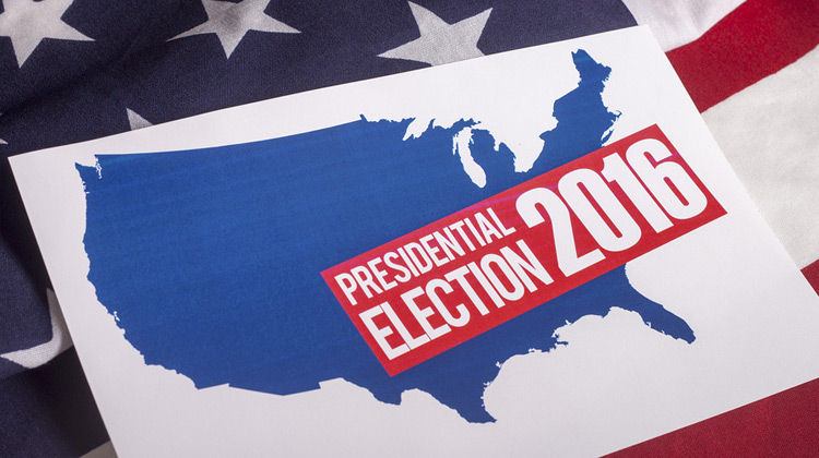 Presidential Election Vote, American Flag