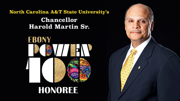 Ebony Power 100: NCAT Chancellor Martin Makes the List