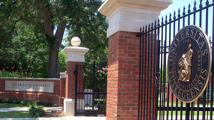 Main gate entrance on the campus of Tuskegee Univeristy
