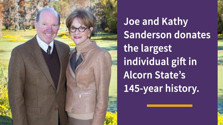 CEO of Sanderson Farms, Inc. Joe Sanderson, Jr. and his wife Kathy.