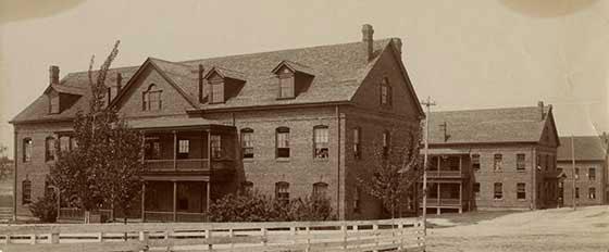 Historic Emery Buildings I, II and III circa 1905