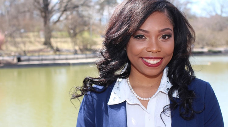 2016 Ailes Rising Apprentice: Gentel Blair, a senior mass communication major at Saint Augustine's University