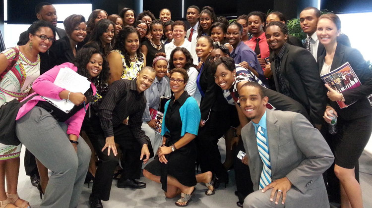 BET Network Interns pose for a group photo.