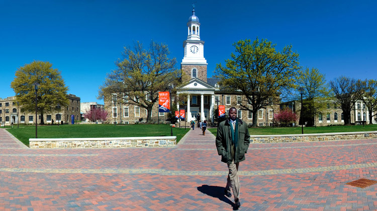 A national treasure: The quad on the Morgan State University campus, in Baltimore, MD.