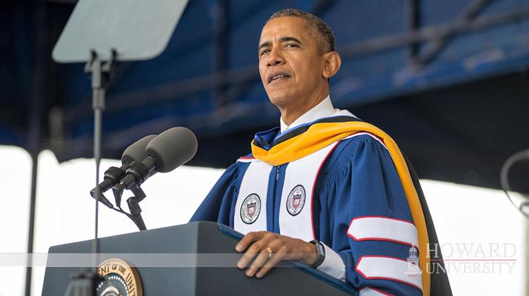 President Barack Obama addressed members of the 2016 graduating class of Howard University