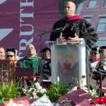US Senator Cory Booker Urges NCCU Graduates to Stay Faithful