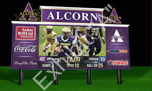 Alcorn State University Video Scoreboard Design Exhibit