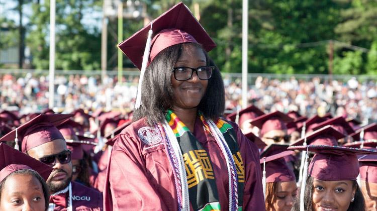 NCCU double major graduate Jelaina Shipman