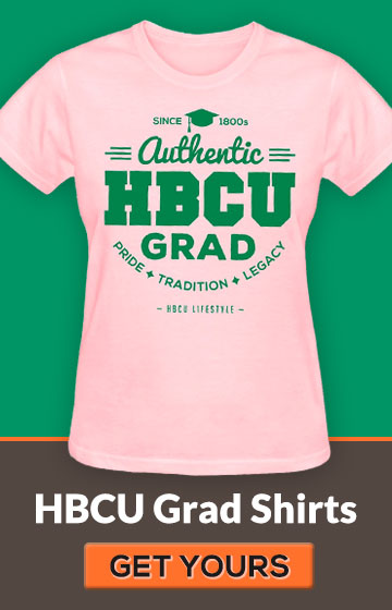 Women's Pink and Green HBCU Grad Shirt