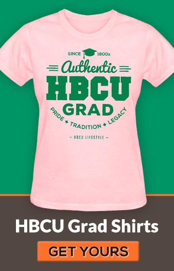 Women's Pink and Green HBCU Grad Shirt