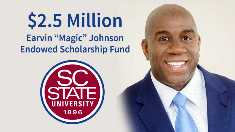 Five-time NBA Champion Earvin Magic Johnson will partner with SC State University
