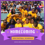 HBCU Homecoming Football Schedule 2016