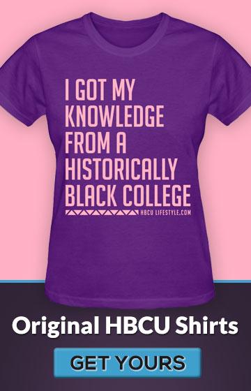 Women's Pink and Purple HBCU Knowledge Shirt