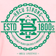 Pink and Green HBCU Strong T-Shirt