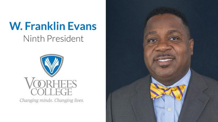 W. Franklin Evans Named New President of Voorhees College