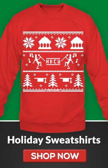 HBCU Ugly Christmas Sweater - Red and White Sweatshirt