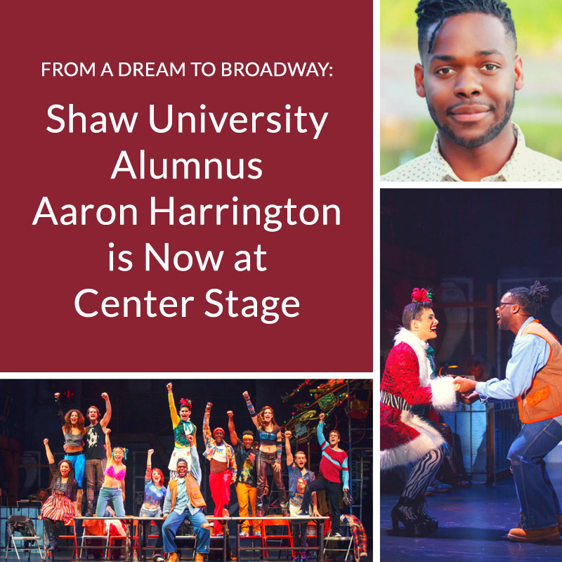 Shaw Grad Makes a Leap of Faith, Lands on the Broadway Stage