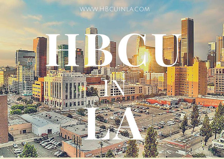 Poster image for the HBCU in LA Internship Program promoting minorities in the Entertainment Industry.