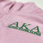 Alpha Kappa Alpha Embroidered Quarter-zip Sweatshirt