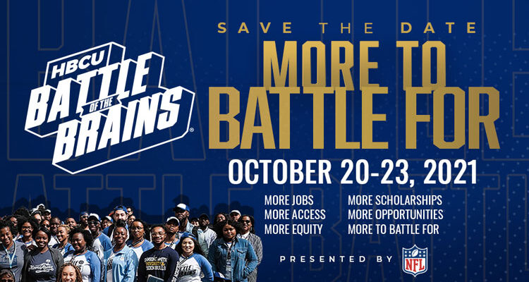 Save the Date: 2021 HBCU Battle of the Brains Postcard